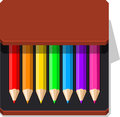 Color Pencils case Royalty Free Stock Photo