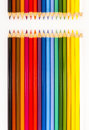 Color pencils colored in different colors Royalty Free Stock Images