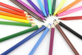 Color pencils and felt-tip pens Royalty Free Stock Photo