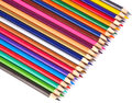 Color pencils isolated on white background a Stock Photo
