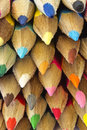 Color pencils macro Royalty Free Stock Photos