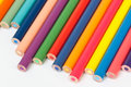 Color pencils row of colorful Stock Images