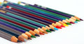 Color pencils set of on a white background Stock Image