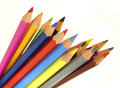 Color pencils setup Stock Image