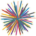 Color pencils stack Royalty Free Stock Photos