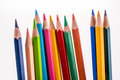 Color pencils of various colors Royalty Free Stock Photo
