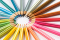 Color pencils wheel Royalty Free Stock Photos