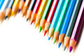 Color pencils on a white Royalty Free Stock Image