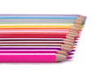 Color pencils on a white background Royalty Free Stock Photography