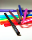 Color pens Stock Photos