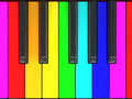 Color piano keys digital keyboard Stock Photos