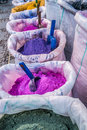 Color pigments in the blue medina of chefchaouen morocco Stock Images