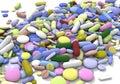 Farba pilulky horizontálne