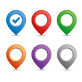 Color pin set for maps Royalty Free Stock Image