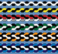 Color plait pattern Royalty Free Stock Photos