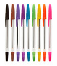 Color plastic ball-point pens Royalty Free Stock Photo