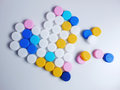 Color plastic bottles caps heart Royalty Free Stock Photo