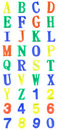 Color plastic letters alphabet Royalty Free Stock Photo