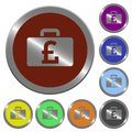 Color pound bag buttons Royalty Free Stock Photo