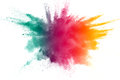 Color powder explosion