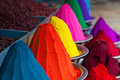 Color powder on the indian market india Stock Photos