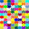 Color puzzle Stock Image