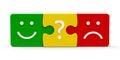 Color puzzle feedback Royalty Free Stock Photo