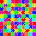 Color puzzles background Royalty Free Stock Photo
