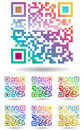 Color qr code Stock Images