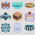 Color retro design insignias logotypes set