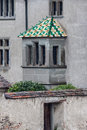 Color roof stein am rhein switzerland a colorful on a window of a historical building in historical city Stock Image
