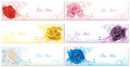 Color roses banner background collection set in create by vector Stock Images