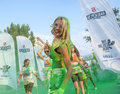 The color run mamaia romania august happy unidentified people at is a worldwide hosted fun which promote healthiness Royalty Free Stock Images