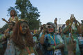 The color run mamaia romania august happy unidentified people at is a worldwide hosted fun which promote healthiness Stock Images