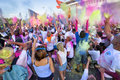 The color run in milan italy september people at first edition of on september Royalty Free Stock Photo