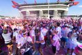 The color run in milan italy september people at first edition of on september Royalty Free Stock Images