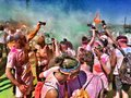 The color run tour in turin Royalty Free Stock Images