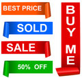 Color sale sticker set, vector Royalty Free Stock Photo