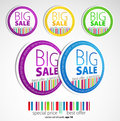Color sale stickers Royalty Free Stock Photo