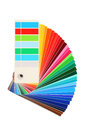 Color samples bribe colored rainbow on white background Royalty Free Stock Photo