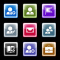 Color screen web icons, set 1 Royalty Free Stock Photo