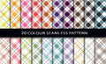 Color seamless patterns set Stock Photography