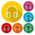 Color set of headphones