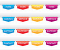 Color set navigation labels your design web site banners tags ribbons Stock Images