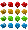 Color shiny 3D cubes Royalty Free Stock Photo