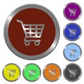 Color shopping cart buttons Royalty Free Stock Photo