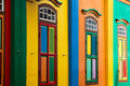 Color shutters Royalty Free Stock Images