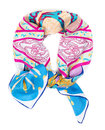 Color silk scarf Royalty Free Stock Photo