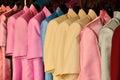 Color silk shirts