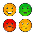 Color Smiley Face Icons Set. Vector